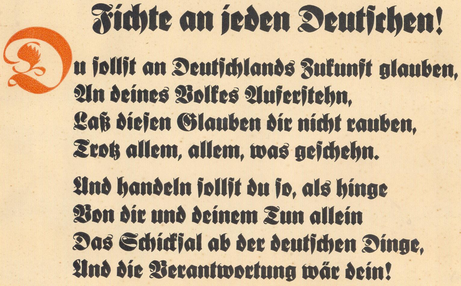 Du Sollst An Deutschlands Zukunft Glauben